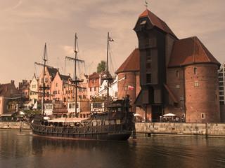 Foto auf AluDibond Schiff Gdansk