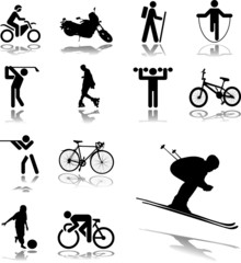 Set icons. Sport