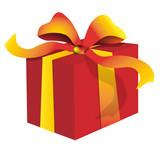 Ruban rouge pour cadeau