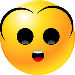 Fototapeta vector clipart illustrations of emoticon Smiley face obraz