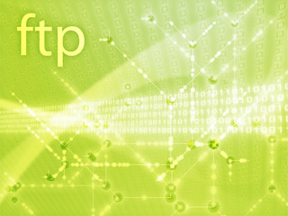 File transfer protocol ftp illustration, Digital data transfer