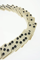 Line of Dominoes on Seamless Background