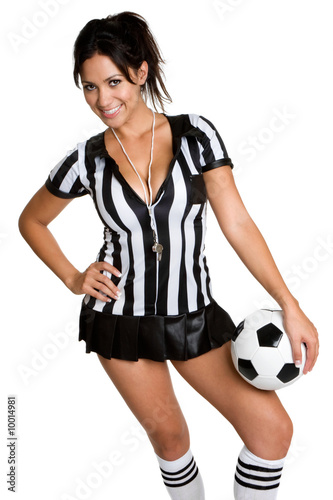 photo of girls soccer with referee № 16399