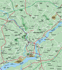 Philadelphia Metropolitan Area Map