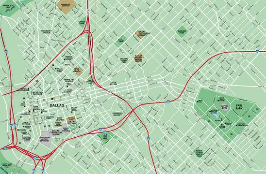 Dallas, TX Map