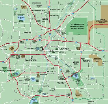 Denver, CO Metropolitan Area Map