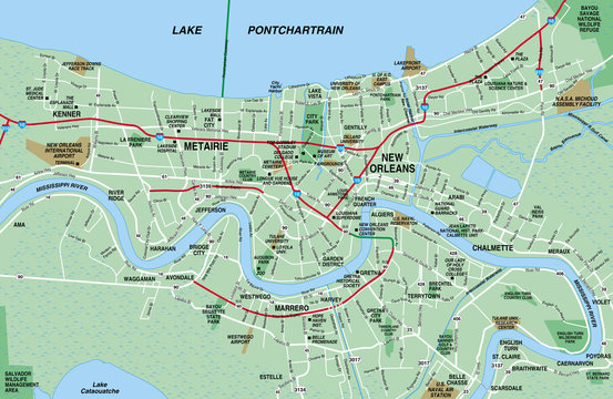 New Orleans Metro Map