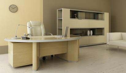modern office interior 3d rendering