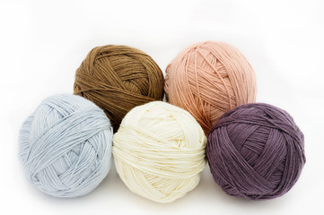 Colorful wool yarn