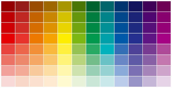 la palette des couleurs