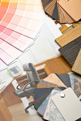 Abstract background from color guide and furniture catalogue