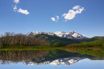 .Rocky Mountains in the spring