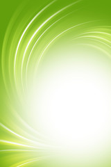 Green background, twirl