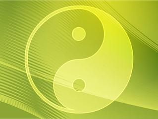 Yin yang symbol oriental representation of duality