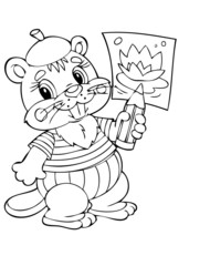 illustration beaver