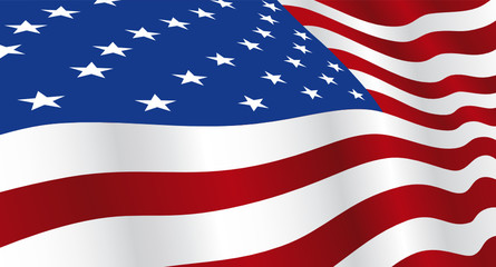 Wide screen background of USA flag