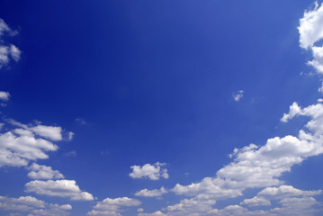 Sky full of small clouds - bright natural texture