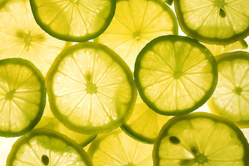 slices of lemon and lime