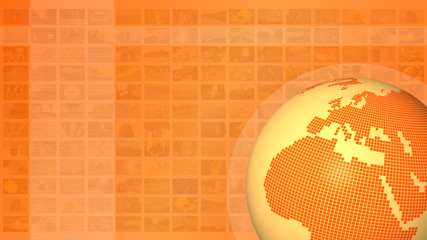 wide world multimedia television orange background
