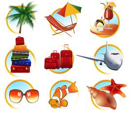 Holiday objects, vector illustration