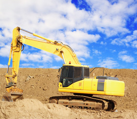 Yellow earthmover