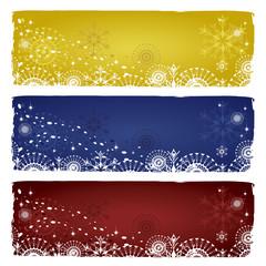 Set of three winter  banners