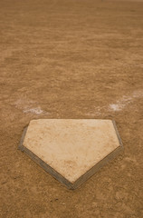 Home Plate of a baseball/softball field