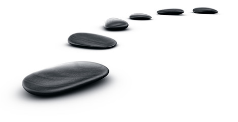 3d renderings of black stones