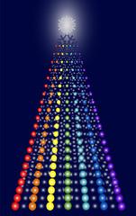Contemporary dot christmas tree