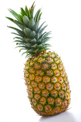 Isolate in studio on white background pineapple