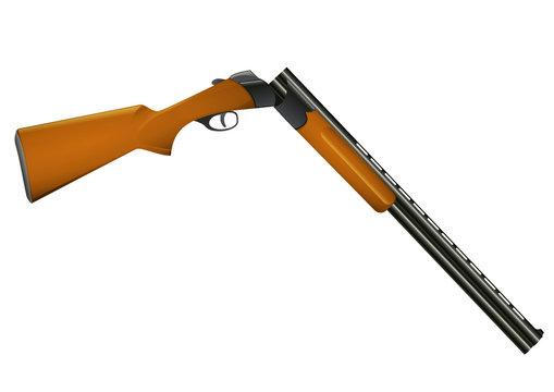 Fusil de chasse ouvert (détouré)