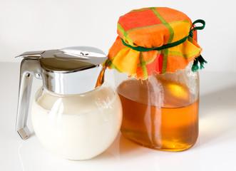 Milk and illuminated honey