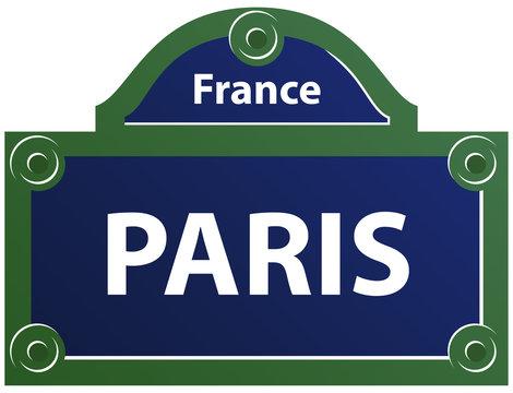 Plaque de rue de Paris