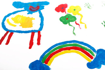 A picture painted by a five year old