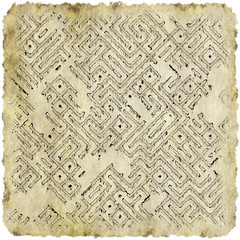 islated ancient piece of paper with scroll