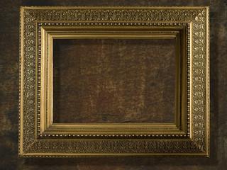 vintage frame gold