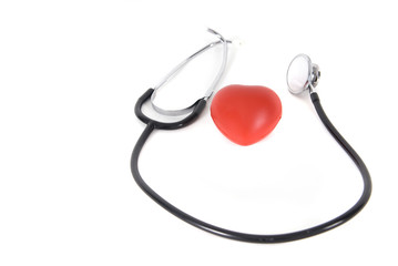 A conceptual stethoscope on heart