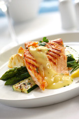 Atlantic salmon, with bearnaise sauce