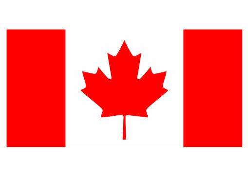 Canada flag isolated vector illustration