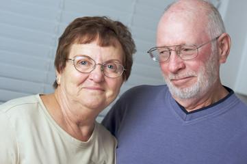 Happy Senior Adult Couple Portrait