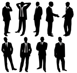 Collection of businessmen. Vector illustration