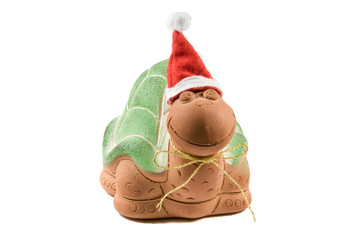 Christmas turtle with a tie
