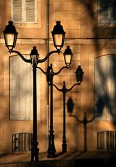 lampadaire et ombre