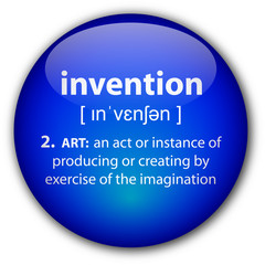 """invention"" button with definition"