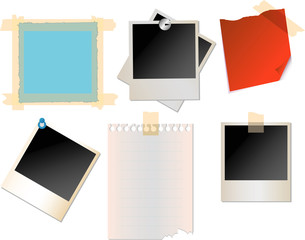 Office papers. Vector..