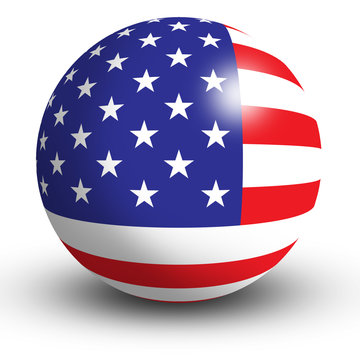 American Flag orb Button Icon