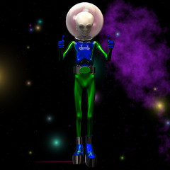 Outerspace / Alien series.Image contains a Clipping Path / Cutti