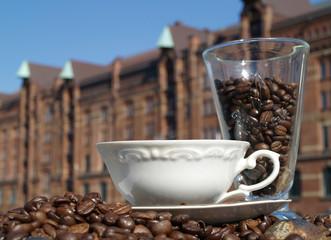 Kaffepause in der Speicherstadt