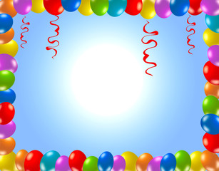 Colorful birthday frame