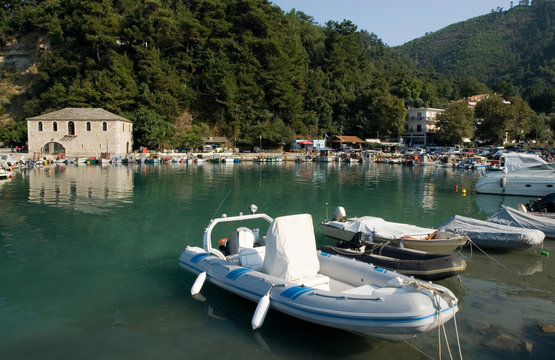Skala Potamias port, Thasos island, Greece
